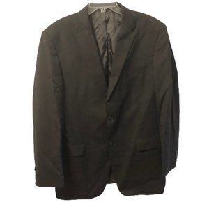 Jones New York Men's L 46 Black Suit Coat Blazer